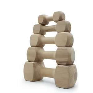 Wooden Dog Obedience Dumbbells